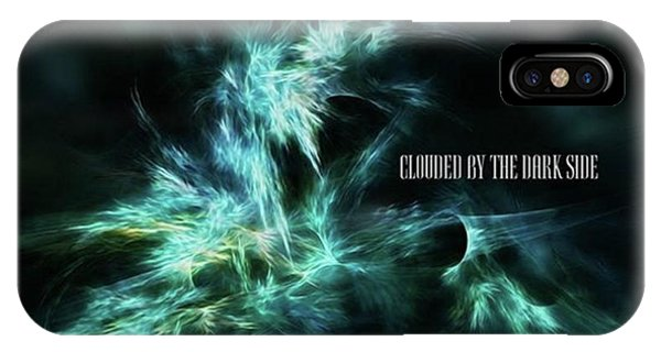 Clouded By The Dark Side #art #abstract Phone Case by Michal Dunaj