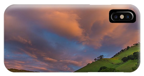 Clouds Above Round Valley At Sunrise IPhone Case