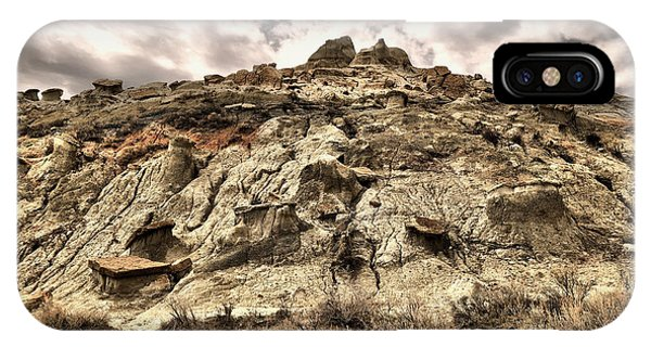 North Dakota Badlands iPhone Case - Clouds And Badlands by Jeff Swan