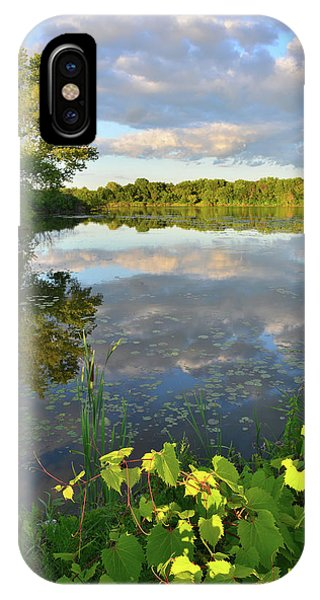 Clouds Mirrored In Snug Harbor IPhone Case