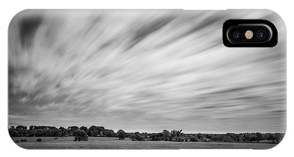 IPhone Case featuring the photograph Clouds Moving Over East Texas Field by Todd Aaron
