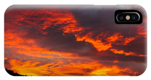 Clouds On Fire IPhone Case