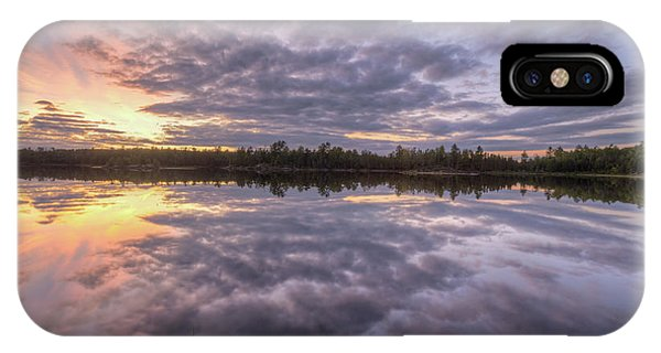IPhone Case featuring the photograph Kawishiwi River Sunset Refletion, Boundayt Watery Minnesota by Paul Schultz