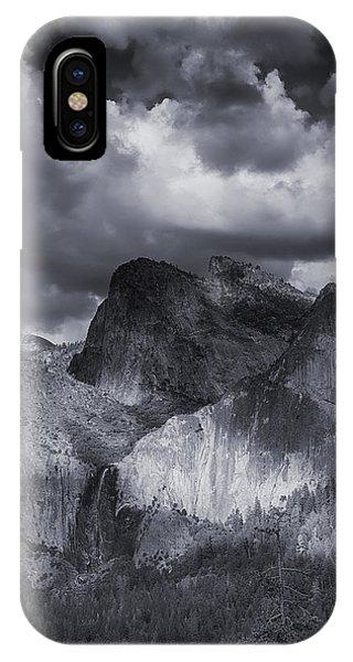 Clouds Over Bridal Veil Falls IPhone Case