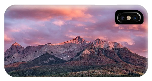 IPhone Case featuring the photograph Clouds Over Hayden At Sunset by Denise Bush