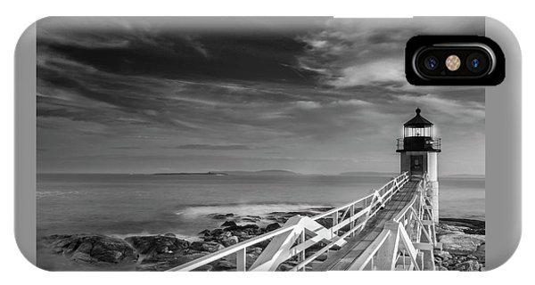 Clouds Over Marshall Point Lighthouse In Maine IPhone Case