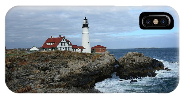 Clouds Over Portland Head Lighthouse IPhone Case