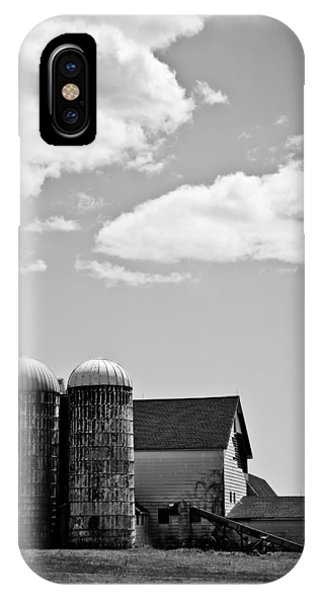 Timeworn iPhone Case - Clouds Over Silos by Colleen Kammerer