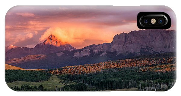 IPhone Case featuring the photograph Clouds Over Sneffels At Sunset by Denise Bush