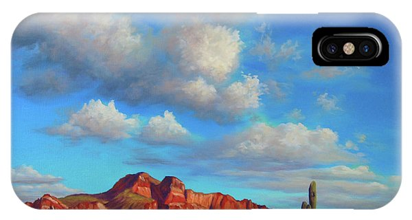 Clouds Over Superstitions IPhone Case