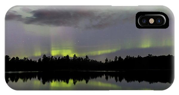 IPhone Case featuring the photograph Clouds Over The Lights by Paul Schultz