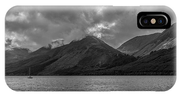 Clouds Over Loch Lochy, Scotland IPhone Case