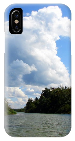 Clouds Over The Platte River IPhone Case