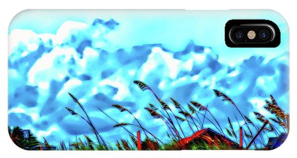 Clouds Over Vilano Beach IPhone Case