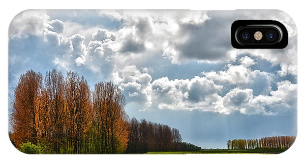 Clouds Over Voorne IPhone Case