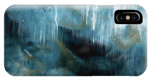 Grey Skies iPhone Case - Clouds Rolling In- Abstract Art By Linda Woods by Linda Woods