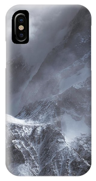 Clouds Rolling Over The Tops Of The Mountain In Torres Del Paine, Chile IPhone Case