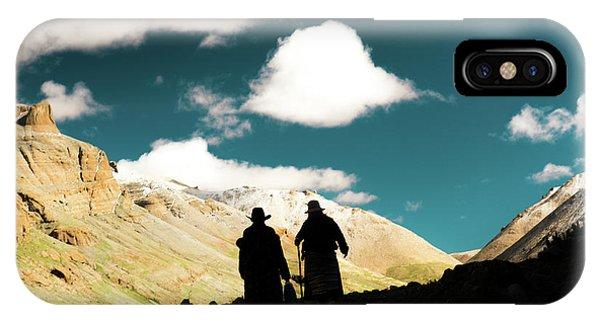 Kora iPhone Case - Clouds Way Kailas Kora Himalayas Tibet Yantra.lv by Raimond Klavins
