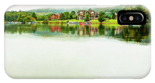 Cloudy Day On The Lake IPhone Case
