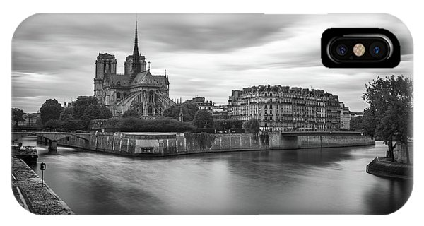 Cloudy Day On The Seine IPhone Case