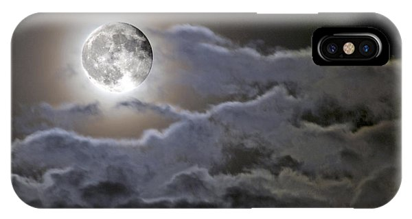 Cloudy Moon IPhone Case
