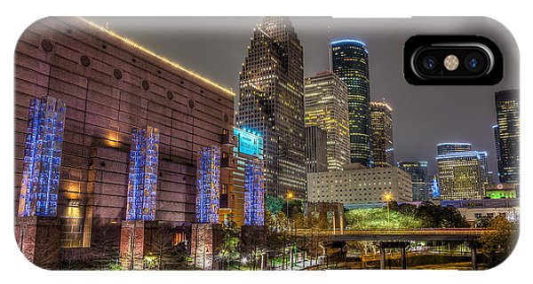 Cloudy Night In Houston IPhone Case