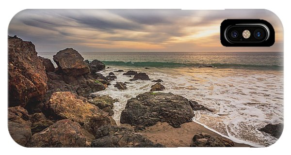 Cloudy Point Dume Sunset IPhone Case