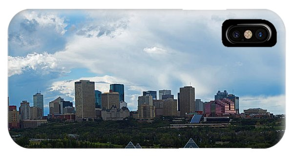 Cloudy Skyline Edmonton IPhone Case