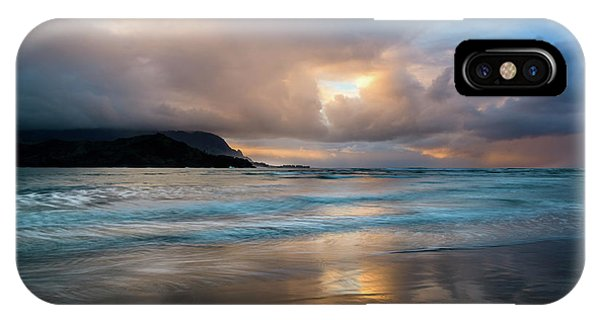 Cloudy Sunset At Hanalei Bay IPhone Case
