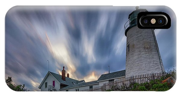 Cloudy Sunset At Pemaquid Point IPhone Case