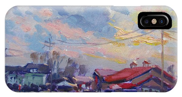 Market iPhone Case - Cloudy Sunset by Ylli Haruni