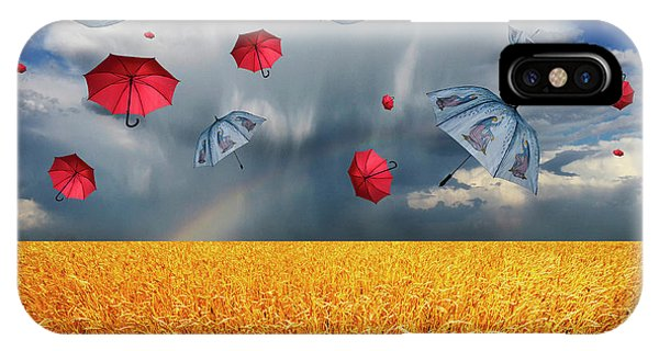 iPhone Case - Cloudy With A Chance Of Umbrellas by Bob Christopher