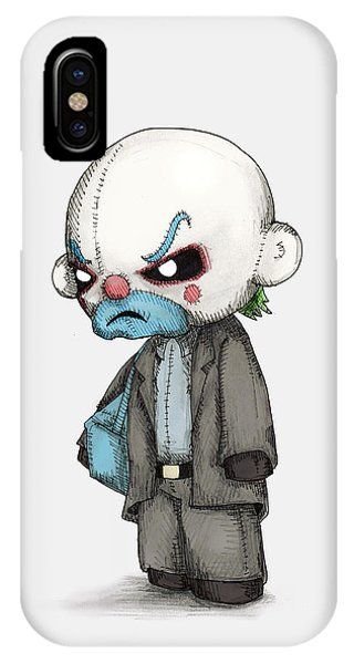 Bacon iPhone Case - Clown Bank Robber Plush by Ludwig Van Bacon