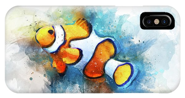 Reef Diving iPhone Case - Clown Fish by Aged Pixel
