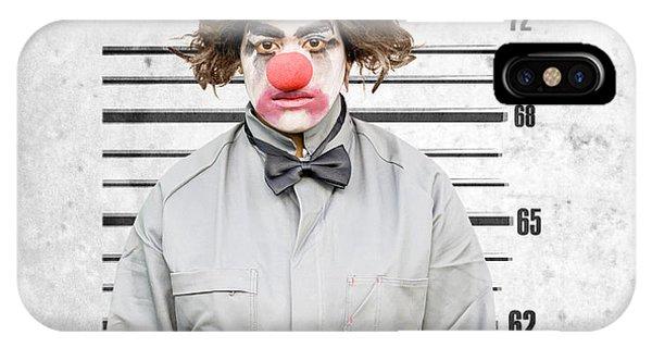 Behaviour iPhone Case - Clown Mug Shot by Jorgo Photography - Wall Art Gallery