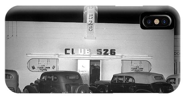 Club 526  Henry Franci, Salinas 1941 IPhone Case
