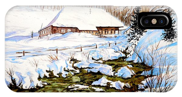 Clubhouse In Winter IPhone Case