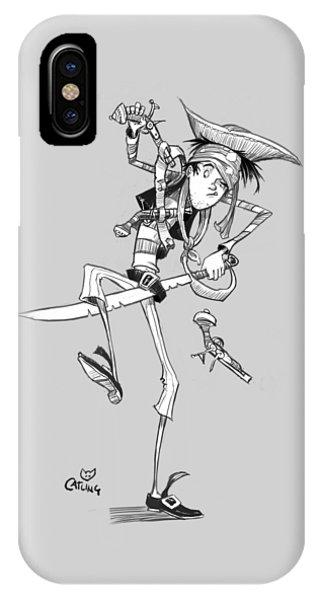 Clumsy Pirate IPhone Case