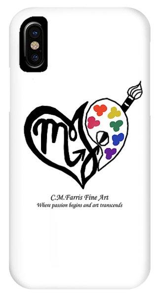 IPhone Case featuring the digital art Cmfarris Logo Brand by Christopher Farris