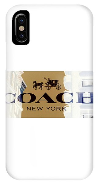 IPhone Case featuring the photograph Coach New York Sign by Marianna Mills
