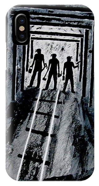 Coal Miners At Work IPhone Case