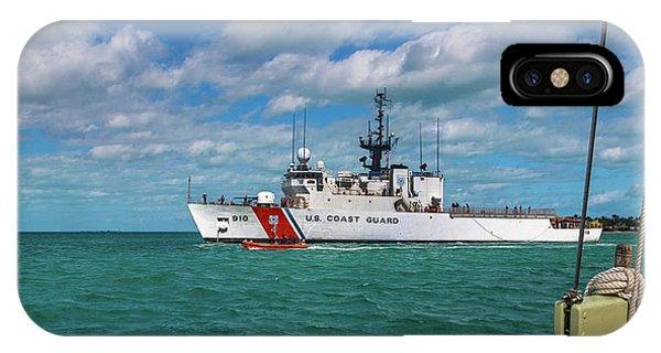 Carribbean iPhone Case - Coast Guard Heading Home by Betsy Knapp