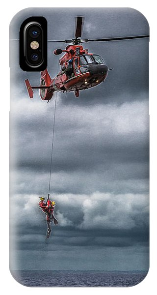 Coast Guard Rescue Operation  IPhone Case