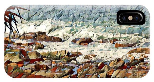 Jet Ski iPhone Case - Coastal Abstract #2 by Trudee Hunter
