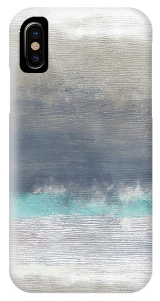 Pink iPhone Case - Coastal Escape-abstract Art By Linda Woods by Linda Woods