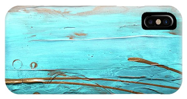 Coastal Escape I Textured Abstract IPhone Case