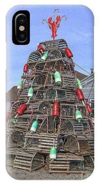 Coastal Maine Christmas Tree IPhone Case