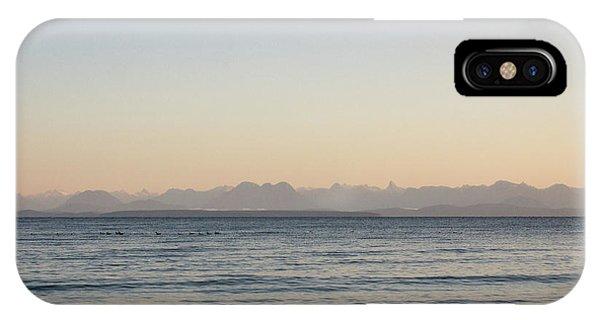Coastal Mountains At Sunrise IPhone Case