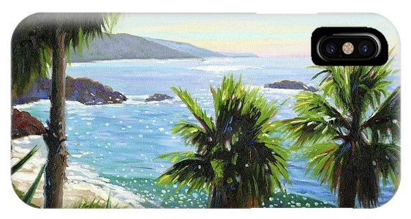 Laguna Beach iPhone Case - Coastal Palms by Steve Simon