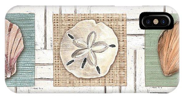 Tan iPhone Case - Coastal Shells 1 by Debbie DeWitt